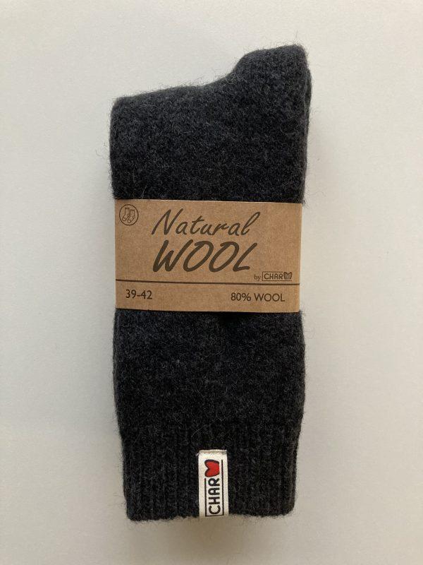 Teplé ponožky ESKIMO z 80% vlny ČIERNE