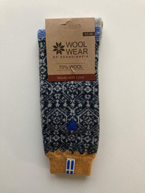 Ponožky zo 70% vlny so Švédskou vlajkou