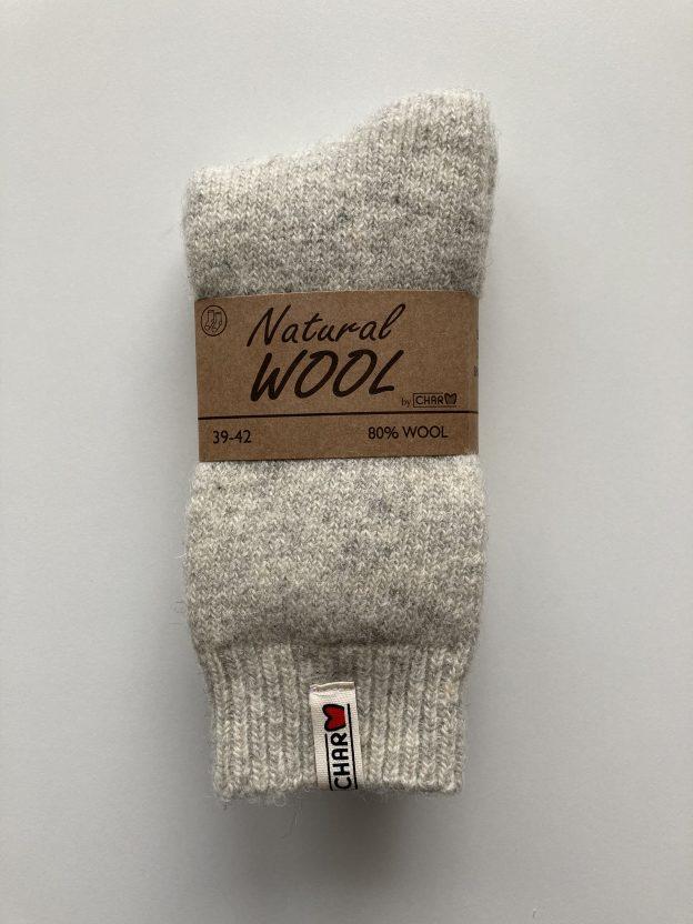 Teplé ponožky ESKIMO z 80% vlny BIELE