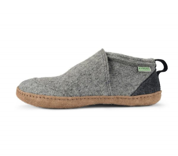 vlnené papuče kyrgies sivé