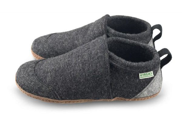 Vlnené papuče KYRGIES Tmavo šedé